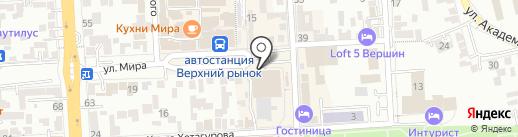 Умница на карте Пятигорска