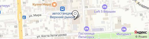 Катюша на карте Пятигорска