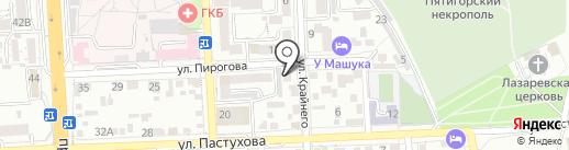 Берег надежды на карте Пятигорска