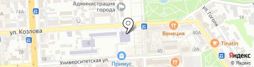 Библиотека им. М. Горького на карте Пятигорска