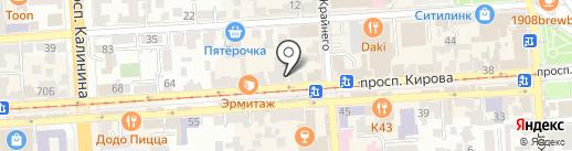 Мастерская на карте Пятигорска