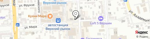 Злато-бар на карте Пятигорска