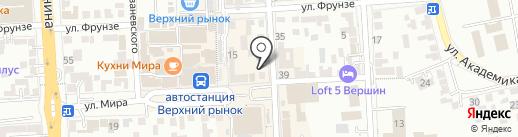Мановар на карте Пятигорска