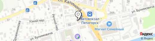 Доступ на карте Пятигорска