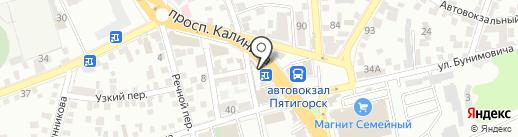 Киоск по продаже цветов на карте Пятигорска