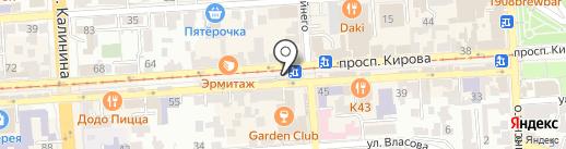 Мистер Слойкин на карте Пятигорска