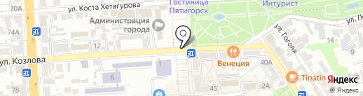 Мастерская по ремонту и замене автостекол на карте Пятигорска