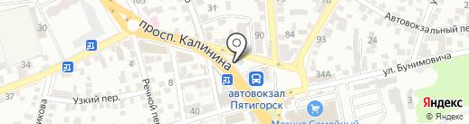 Дорожное на карте Пятигорска