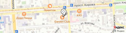 Акцент на карте Пятигорска