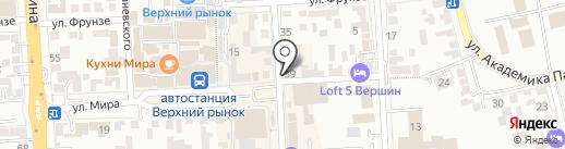 Магазин тканей на карте Пятигорска
