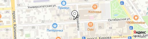 Магазин трех цен на карте Пятигорска