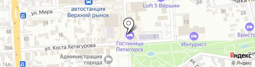 ЧЕ на карте Пятигорска
