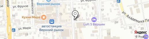 Ткани на карте Пятигорска