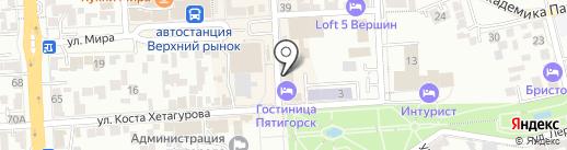 Пятигорск на карте Пятигорска