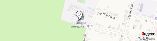 Специальная (коррекционная) общеобразовательная школа-интернат №1 VIII вида для обучающихся на карте Железноводска