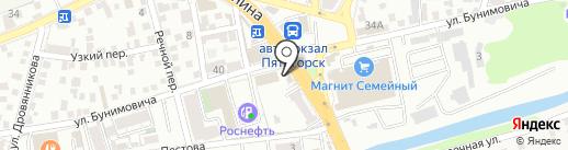 Жигули на карте Пятигорска