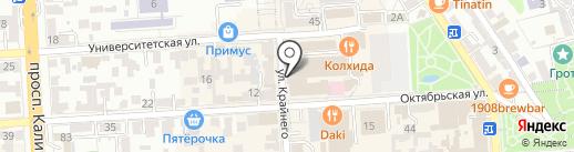 Терек на карте Пятигорска