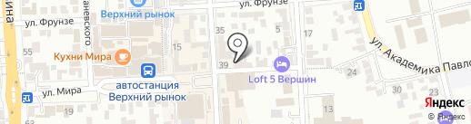 Грузоперевозки на карте Пятигорска