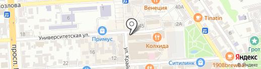 Post Scriptum на карте Пятигорска