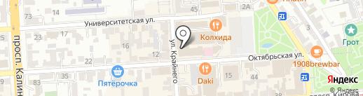 Лисья нора на карте Пятигорска