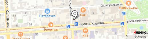 Пятигорский почтамт на карте Пятигорска