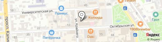 Ланкор на карте Пятигорска