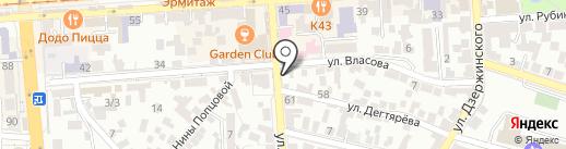 Золотая рыбка на карте Пятигорска