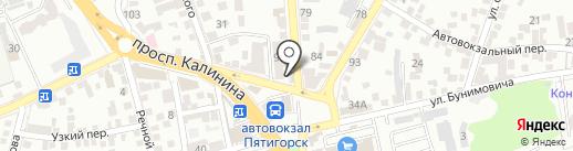 Магазин фастфудной продукции на карте Пятигорска