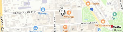 БЕГЕМОТиК на карте Пятигорска