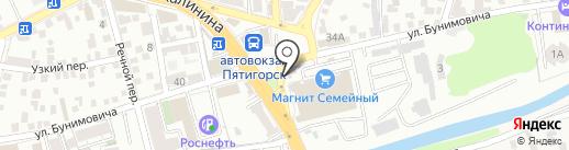 Сеть магазинов алкогольных напитков на карте Пятигорска