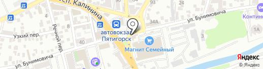 Горсправка на карте Пятигорска