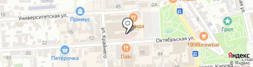 Platinum на карте Пятигорска