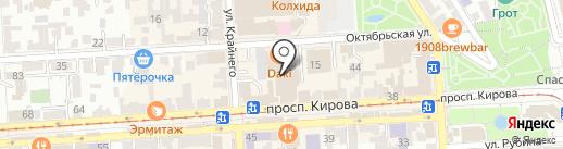 Панда на карте Пятигорска