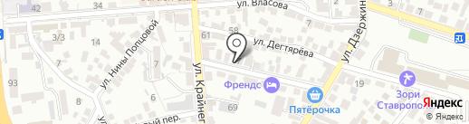 Международная академия финансовых технологий, ЗАО на карте Пятигорска