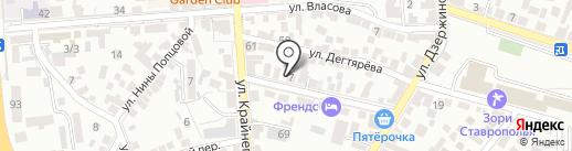Международная академия финансовых технологий на карте Пятигорска
