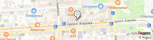 Алсвет на карте Пятигорска