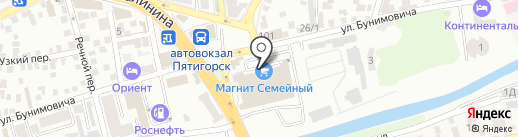 Семейный Магнит на карте Пятигорска