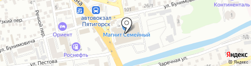 АСУ-Навигатор на карте Пятигорска