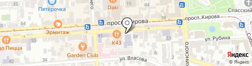 Дворец детского творчества на карте Пятигорска