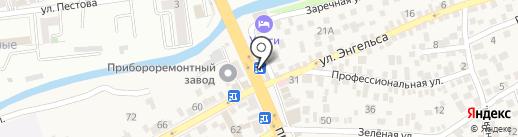 Фиалка на карте Пятигорска