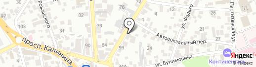 Газприбор на карте Пятигорска
