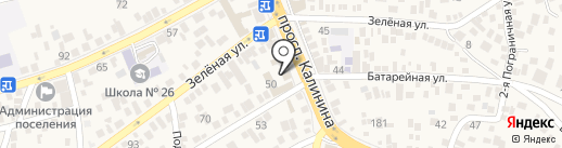 Гиро на карте Пятигорска