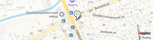Магазин строительных материалов на карте Пятигорска