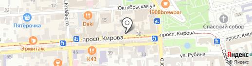 Хинкальная-Шашлычная на Бродвее на карте Пятигорска