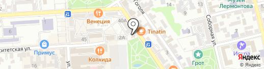 АИВ на карте Пятигорска