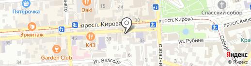 Mon Amie на карте Пятигорска