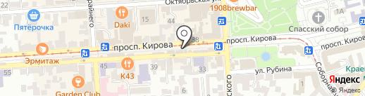 Орхидея на карте Пятигорска