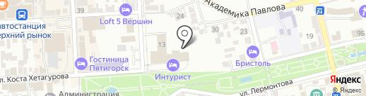 Кастом на карте Пятигорска