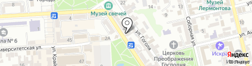 Лайт на карте Пятигорска