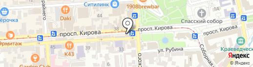 Астория на карте Пятигорска
